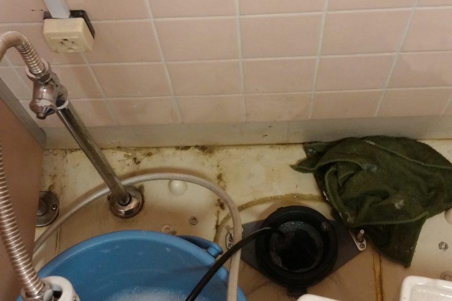 トイレ詰まり高圧洗浄の写真