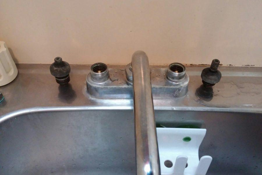キッチン水漏れ修理の写真