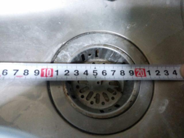 ミニキッチン排水栓採寸