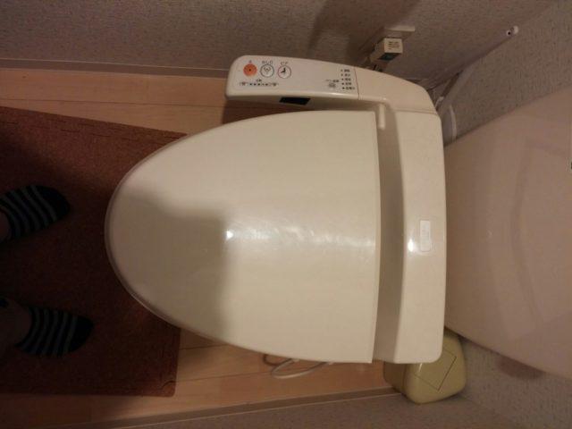 ウォシュレット水漏れ修理の写真