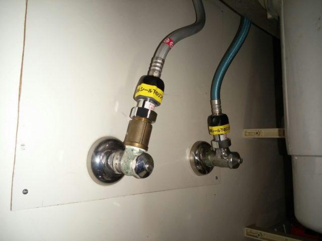 キッチン蛇口水漏れの写真