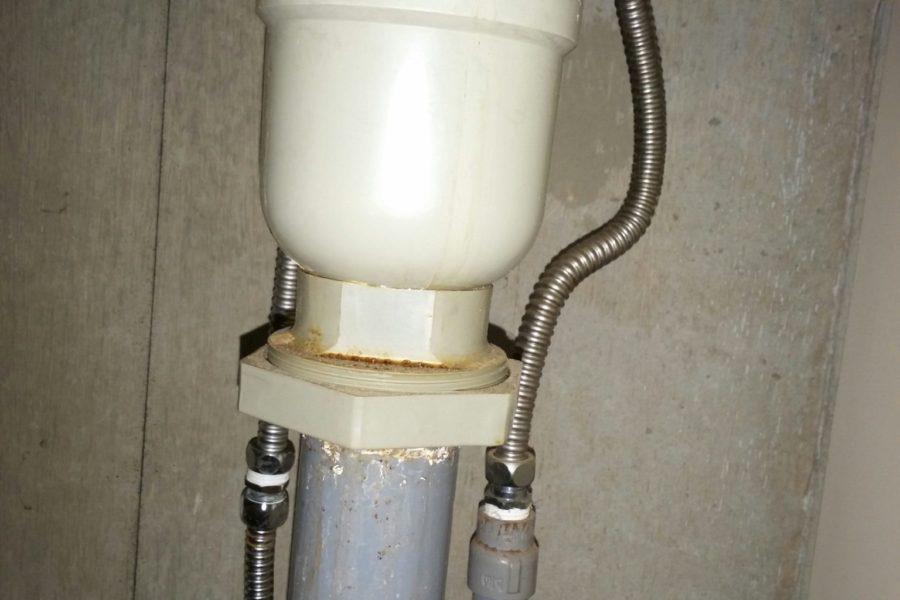 排水栓水漏れ修理