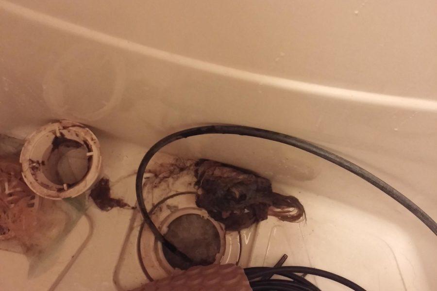 風呂つまり高圧洗浄の写真