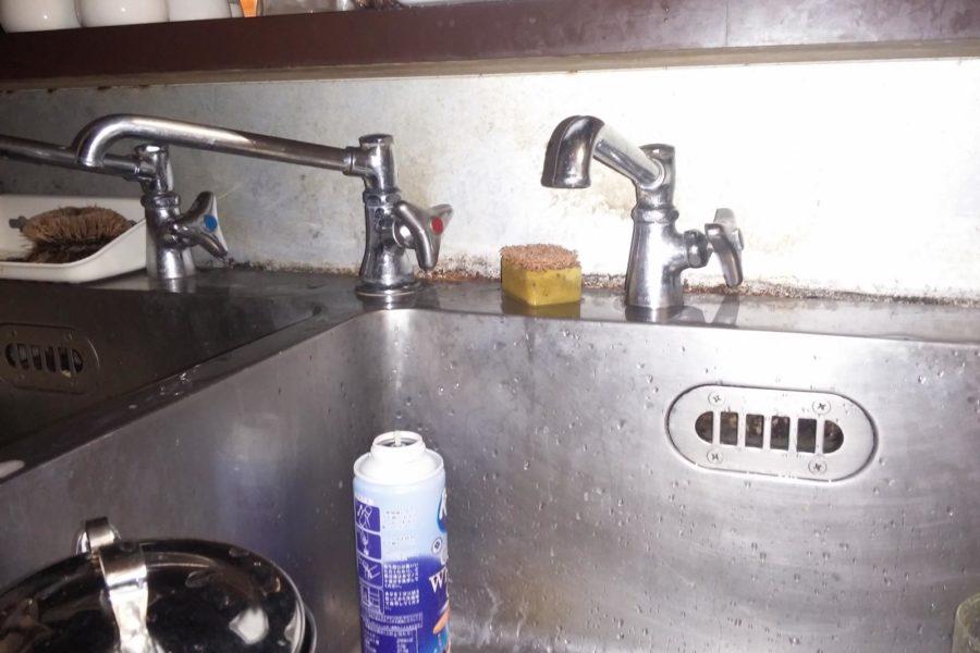 キッチン水漏れ修理写真