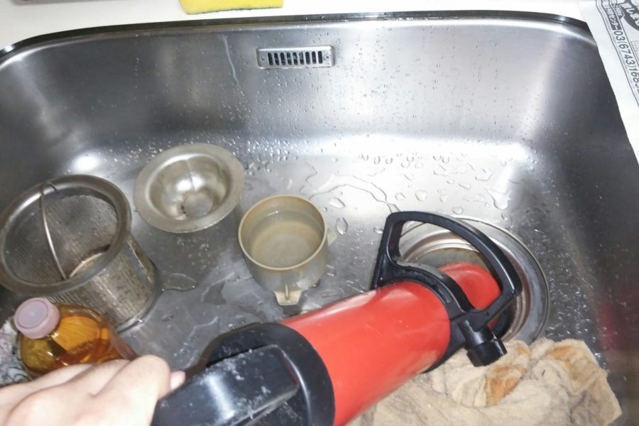 キッチンつまり修理