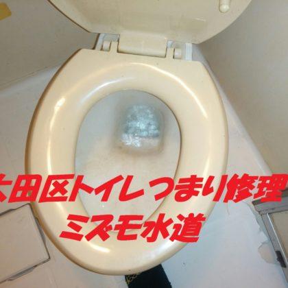 大田区大森西トイレつまり修理
