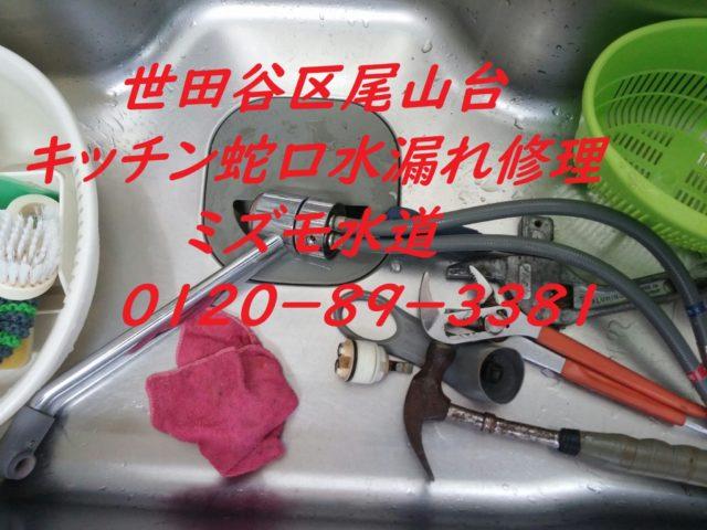 世田谷区尾山台キッチン蛇口修理水道屋