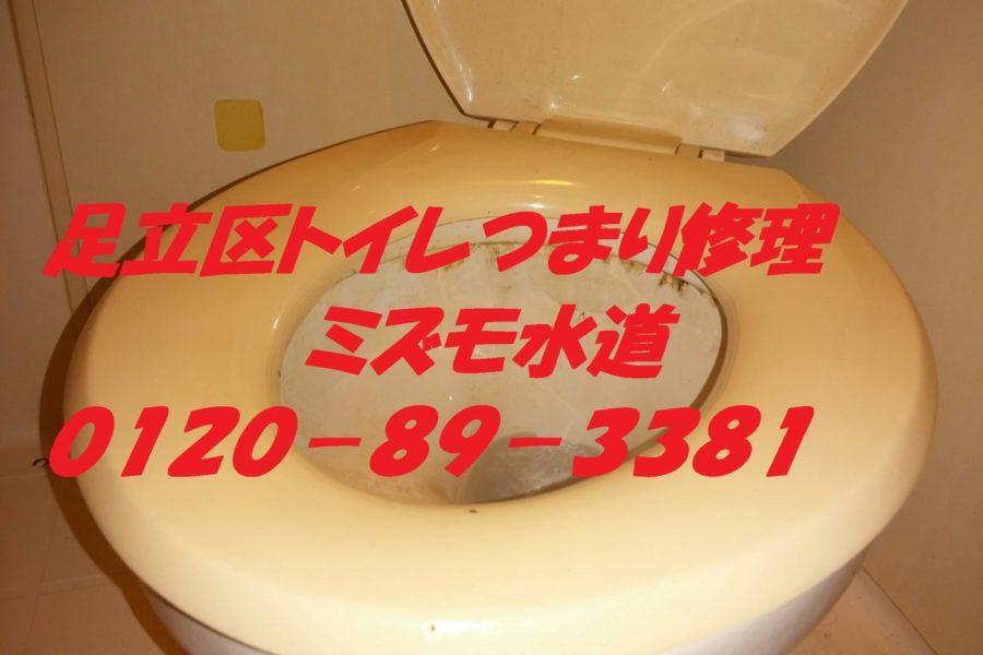 足立区江北トイレつまり