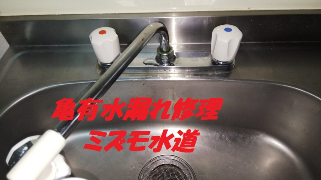 葛飾区亀有台所蛇口水漏れ修理の写真